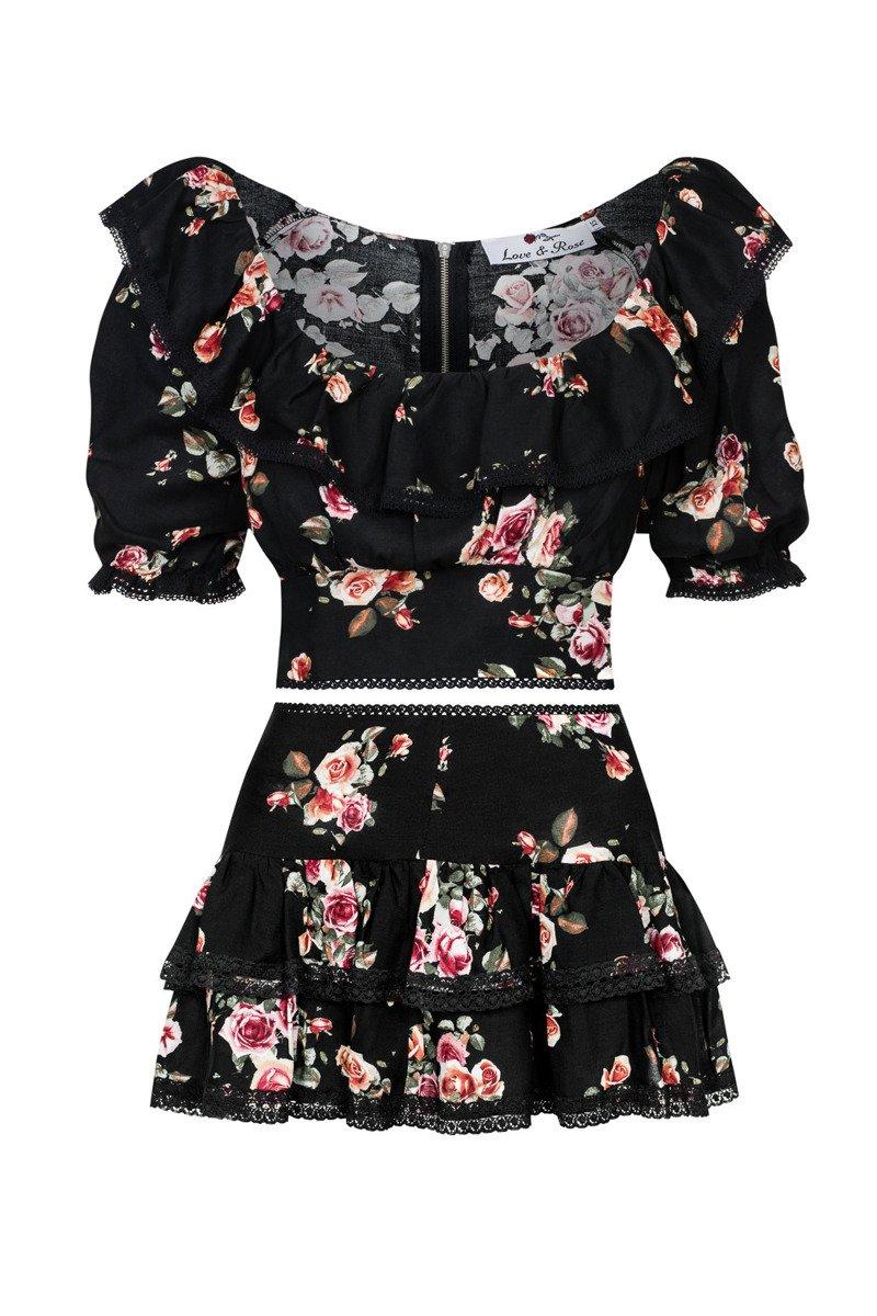 Sukienka z falbankami Mona black
